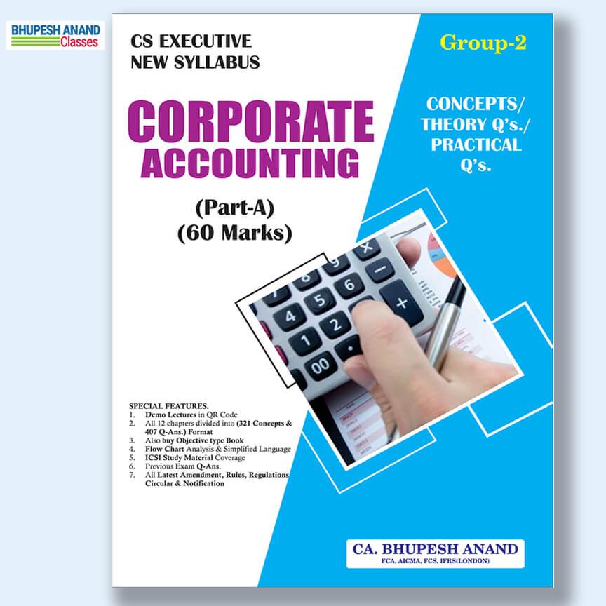 CS Executive Corporate Accounting Theory Book