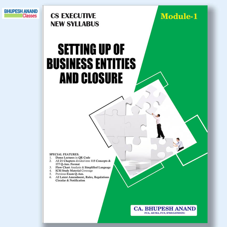 CS Executive Setting Up Of Business entities & Closure book