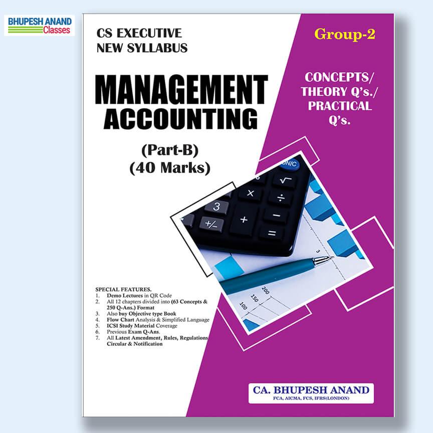 CS Executive Management Accounting Theory Book